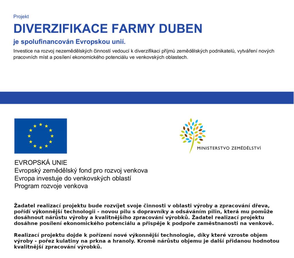 Diverzifikace Farmy Duben